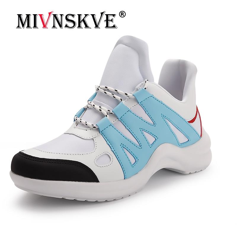 MIVNSKVE 2018 модная женская повседневная обувь Для женщин обувь увеличивает Для женщин обувь сетевой кондиционер Клин самолет обувь на платформ...
