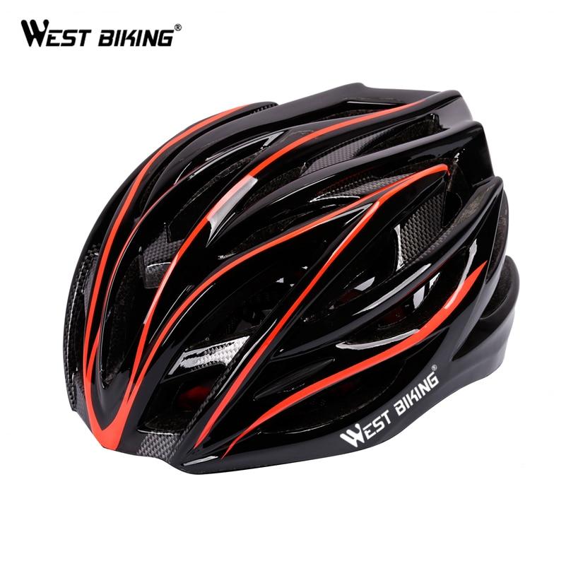 Цена за ЗАПАД ВЕЛОСИПЕД Сверхлегкий Отлиты Велосипедный Шлем Горы MTB Велосипед Шлем Каско Capacete Ciclismo Велосипед Велоспорт Шлемы