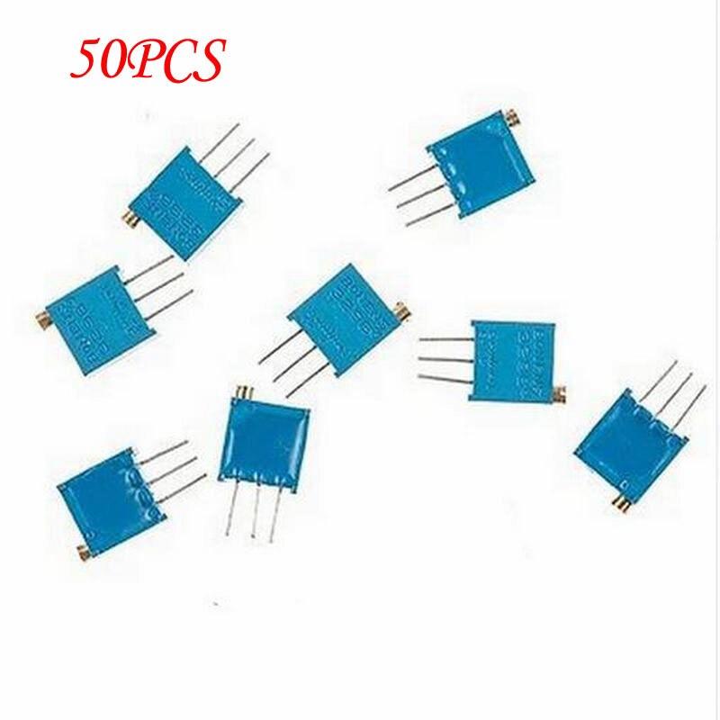 50PCS 3296W 1 102F 3296W 1K ohm 102 Trimpot Trimmer font b Potentiometer b font