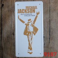 Tin Sign LOSICOE Vintage Metal Painting Michael Jackson Car License Plate Wall Painting Art Fashion Crafts