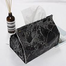 Новая салфетка держатель Ins Nordic кожаный тканевый ящик под мрамор Бумага Диспенсер держатель для бумажных салфеток чехол для украшения для офиса дома