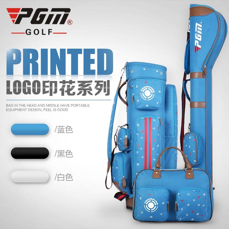 PGM Printing Series  a kit of Golf standard Bag + Gun Bag + Clothing Bag     A4773 hot pgm golf bag golf clothes bag men