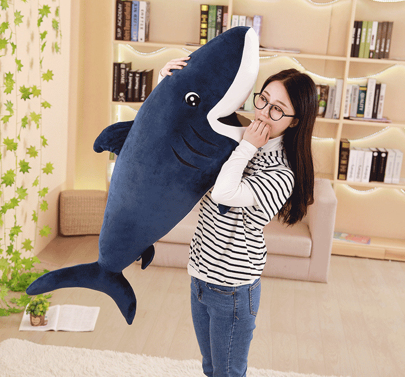 big plush shark toy lovely dark blue stuffed undersea world shark doll gift about 120cm