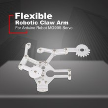 цена на Flexible Robotic Claw Arm Mechanical Paws Anipulator Paw Alloy Arm Gripper Clamp Kit for Arduino Robot MG995 Steering Gear