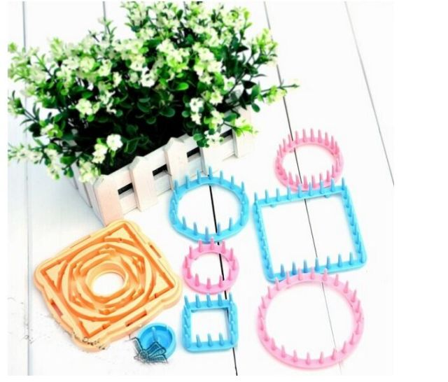 9Pcs Knitting Loom Flower Daisy Pattern Maker Wool Yarn Needle Knit Hobby Loom Knitting Machine Sewing Tools Color Random