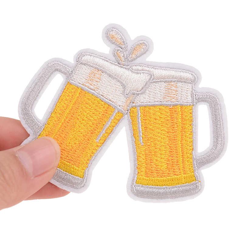 Ropa caliente, insignia de cerveza bordada diy para chicas, Parche de planchado, parches de motero para adhesivos para ropa, tela