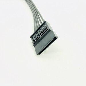 Image 4 - 30 CM czarny pojedynczy rękaw SATA 15Pin męski na żeński przedłużacz kabla HDD SSD moc kabel zasilający SATA kabel zasilający dla PC nowy