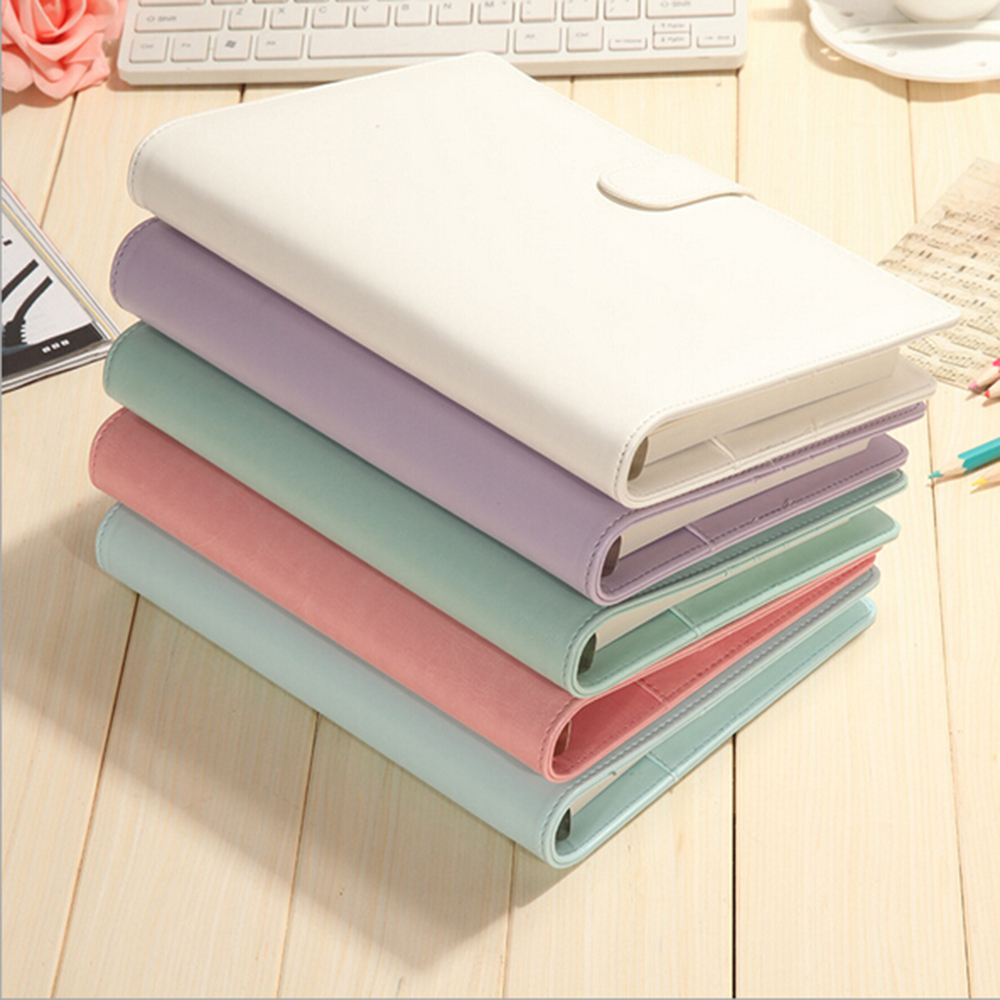 A6 Korean Macarons Colored Planner Organizer Office School Accessories Spiral Binder Planners Diario Note-taking Lovely Planners a5b5 silver coil pp frosted cover notebook office school papelaria multifunctional organizer diario elastic binder planner