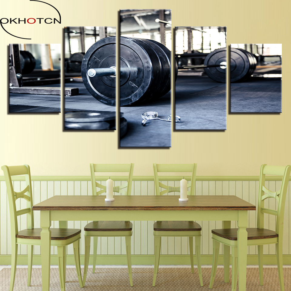 OKHOTCN Canvas Wall Art Painting Abstract Pictures Home Decor Framed ...
