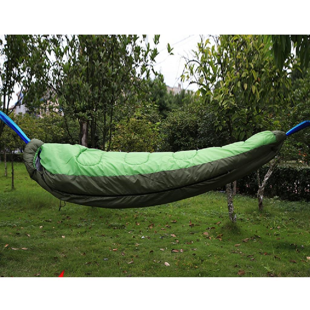 Гамак полной длины под Стёганое одеяло зима теплый спальный мешок под Стёганое одеяло Одеяло для кемпинга Пеший Туризм