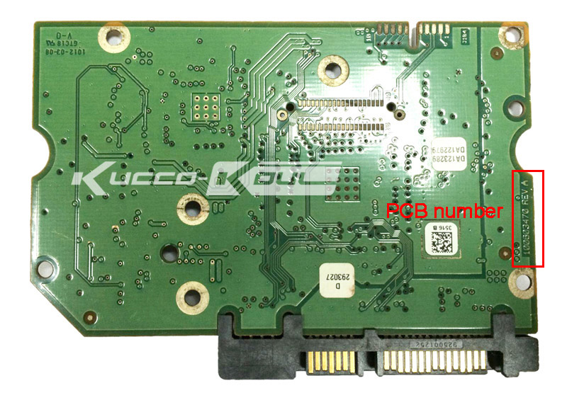 hard drive parts PCB board printed circuit board 100603470 for Seagate 3.5 SATA hdd data recovery hard drive repair ST1000DM000