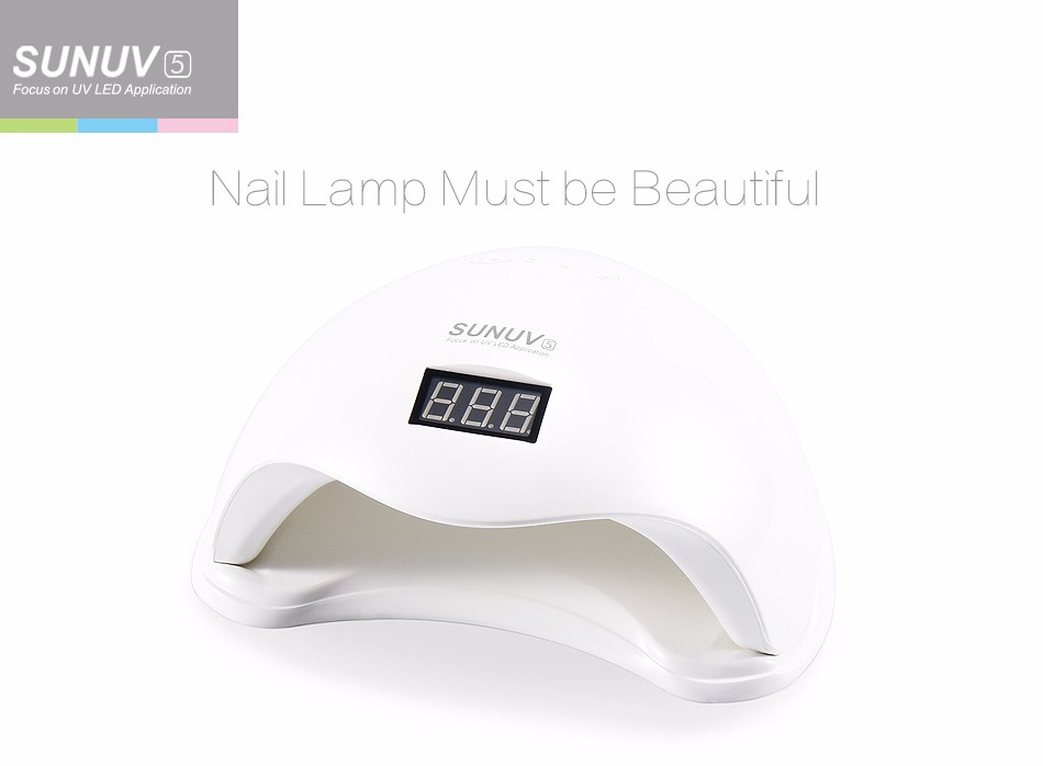 Freeshipping SUNUV SUN5 48W Professional UV LED Lamp Nail Dryer Polish Machine for Curing Nail Gel Art Tool with Buttom sunuv sun4 48w professional uv led nail dryer lamp gel polish nail dryer manicure tool for curing nail gel polish nail drill set