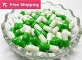 Size0 #1 #1000 unids/lot. apple verde blanco color de gelatina dura cápsulas vacías, cápsulas de gelatina huecos, acompañado o separado
