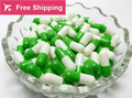 size0# 1# 1000 pcs / lot.apple green white colored hard gelatin empty capsules, hollow gelatin capsules ,joined or separated