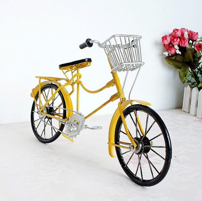 Store Vintage Metal Cykel Ornamenter Desktop Håndværk Cykel Figurer - Indretning af hjemmet - Foto 3