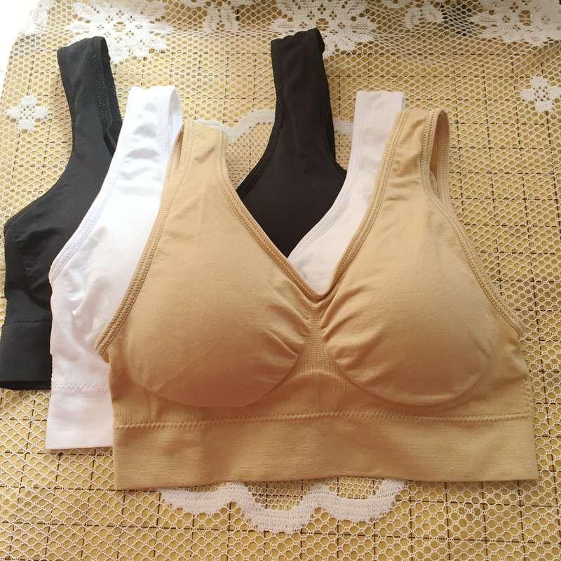 7fe42062db 200set 600pcs genie bra with removable pads seamless bra wireless underwear  vest maternity nursing bra