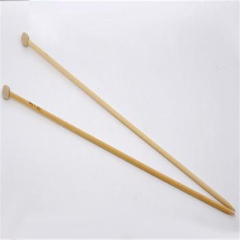 DoreenBeads 34 cmLong SP druty do robienia na drutach do szycia ręcznego szydełko z bambusa szalik czapki narzędzia tkackie (US rozmiar 6 4 0mm) 1 para tanie i dobre opinie CN (pochodzenie) 100 bambusa AE033975