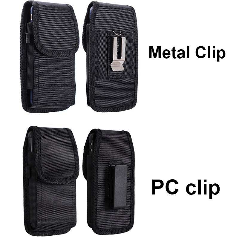 LANCASE Smartphone Pouch Belt tas pinggang untuk smartphone belt pouch Pinggang Belt Clip untuk iphone 7/8/6 / X / XR / XS untuk Samsung S10 / S10e