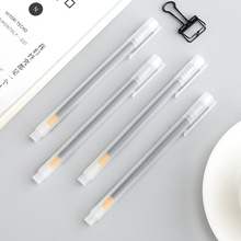 TUNACOCO 4pcs/set MU-JI Style Transparent Neutral Pen black ink Gel Pen Set Stationery office school supplies bb1710054 цены