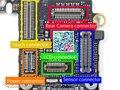 5 компл./лот полный комплект 7 в 1 доске разъемы сенсорный жк-экран питания камеры для док-сила аккумулятор разъем на материнской плате для iphone 5S