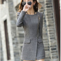 Hot 2016 Autumn Winter Women Woolen Coat Female Warm Wool Long Sleeve Overcoat Jacket Fashion A048
