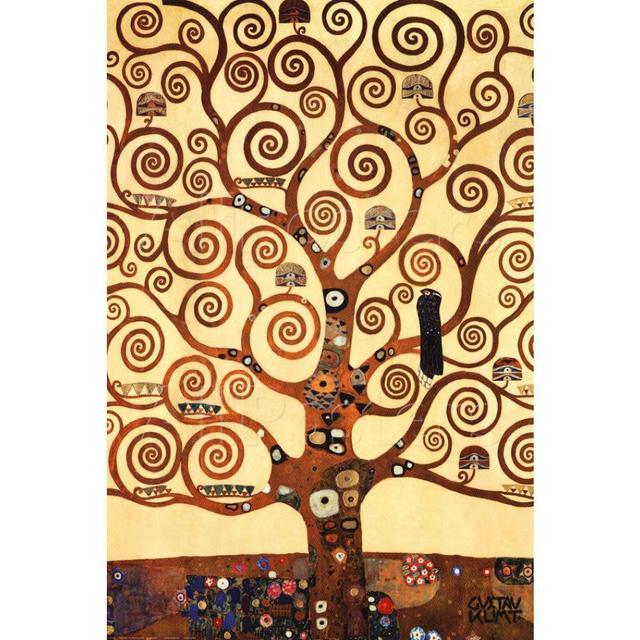 Hand painted Gustav Klimt Oil paintings Trees artworks on Canvas The ...