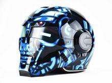2016 Top hot Black MASEI IRONMAN Iron Man helmet motorcycle helmet half helmet open face helmet casque motocross 610SIZE:SM L XL
