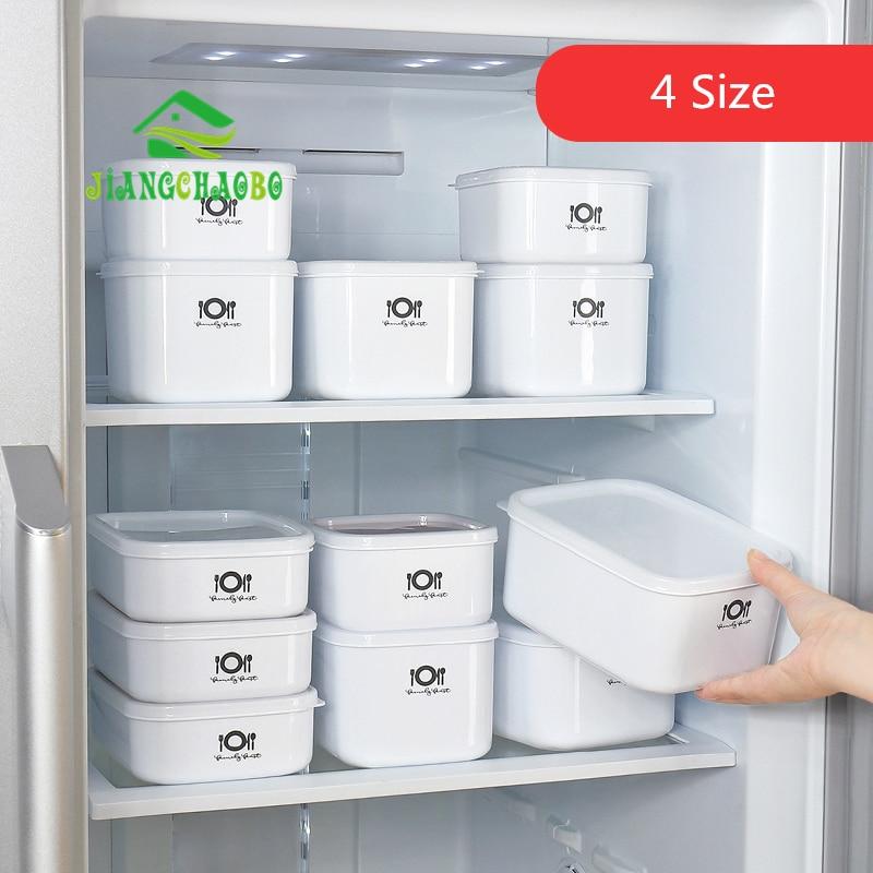 JiangChaoBo Refrigerator Sealed Plastic Storage Box Food Storage Box Microwave Oven Rectangular Lunch Box