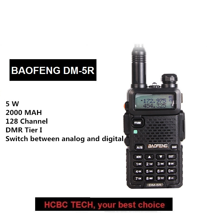 Baofeng DM-5R Tier I Dual Band Dual Time Slot Two Way Radio Transceiver 136-174 /400-470MHz Compatible with MOTOROLABaofeng DM-5R Tier I Dual Band Dual Time Slot Two Way Radio Transceiver 136-174 /400-470MHz Compatible with MOTOROLA