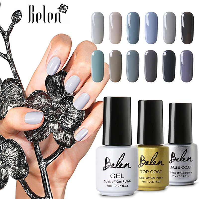 Belen Manicura gel polaco soak off gel brillo largo duradera UV LED ...