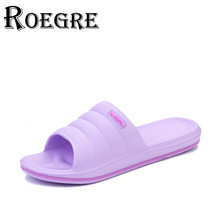 ROEGRE 2017 New Summer Women Slippers Indoor Sandals Shoes Comfortable Lightweight Women Home Wearing Plus Size 41 Blule Purple