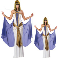 Sexy Egyptian Goddess Beautiful Queen Of The Nile Cleopatra Costume Women'S Royal Halloween Arab Cleopatra Fancy Dress