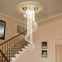 Лобби бар кристалл подвесной светильник КТВ клубный дом кристалл длинный подвесной светильник вилла комплекс лестницы атмосферное криста