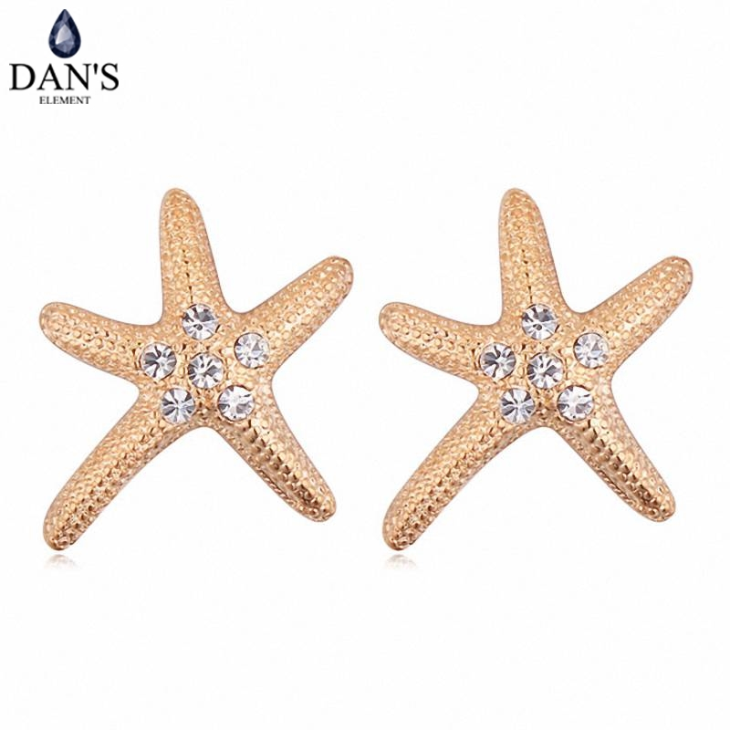 DANS Colors Real Austrian crystals Stud earrings for women Earrings s New Sale Hot Round 115795