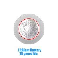 1 Pcs 10 Years Life Lithium Battery Wireless Smoke Detector 433Mhz Fire Control Sensor Alarm