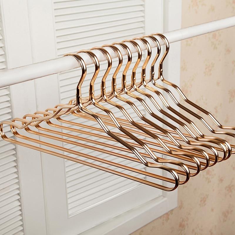 5Pcs Thicker Aluminum Alloy Drying Racks Home Seamless Hanger Anti slip Clothing Hanger Anti rust Windproof Dress Clothes Rack Hangers & Racks     -