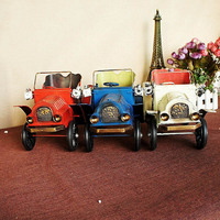 Collectible classic old-fashioned metal handicraft old car model classic toys for children kid gift indoor decoration collection