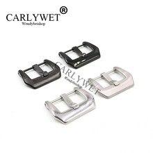 CARLYWET – boucle à vis en acier inoxydable, couleur argent et noir, pour montre de marque, bracelet pour Luminor, 18 20 22 24 26mm, haute qualité