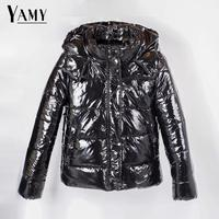 Autumn winter jacket women coats hooded padded parka ladies oversize warm coat womens warm black silver down jacket 2019