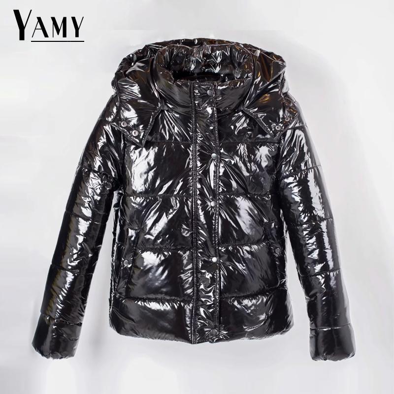Autumn winter jacket women coats hooded padded   parka   ladies oversize warm coat womens warm black silver down jacket 2018