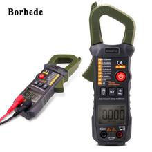 Borbede Digital Clamp Meter Multimeter Automatic Identification 6000 Counts DC AC Resistance Capacitance Diode NCV Tester Mini victor vc70f digital multimeter intelligent multimeter automatic identification capacitance resistance band store