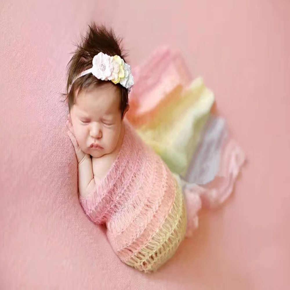Новорожденный реквизит для фотосъемки обертывание одеяло, детское фото, мохер реквизит для фотосъемки ручной работы мохер Радуга обертывание s