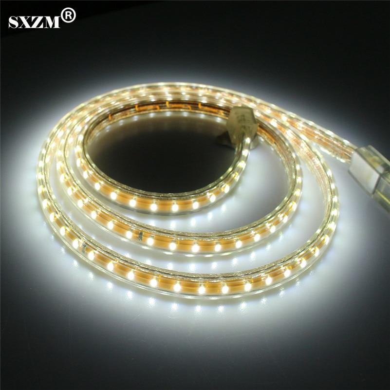 SXZM Outdoor 3014 led strip licht AC220V 120 leds / M IP67 waterdicht - LED-Verlichting