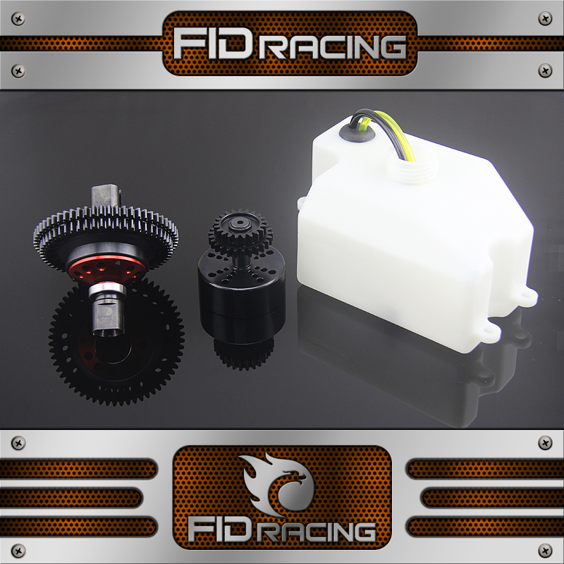 FID RACING 2 Speed transmission with 870ml fuel tank for losi dbxl buggy