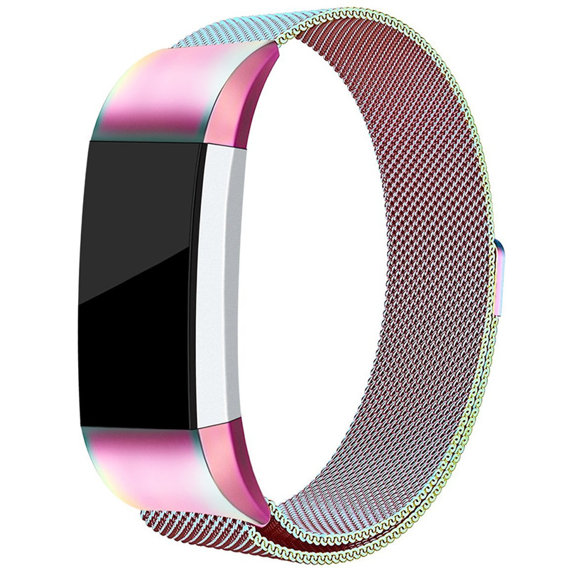 Milanese Loop Strap for Fitbit Charge 2 Smart Watch Band Magnetic Closure Bracelet Mesh Stainless Steel Replacement Wristband стоимость