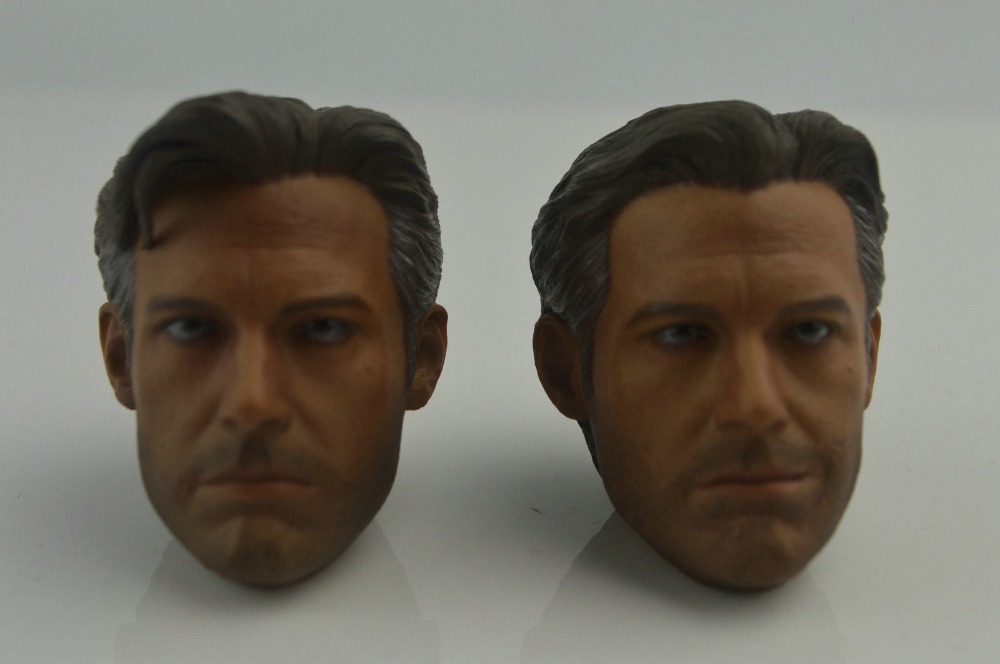 first-rate Ben Affleck 1/6 Head Sculpt x2 for Hot Toys Bruce Wayne Custom Body muñeco buffon