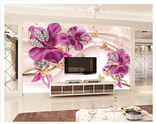 beibehang Classic thickening beautiful papel de parede wallpaper three-dimensional flower jewelry background decorative painting