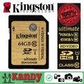 Kingston карты памяти sd Class 10 SDXC UHS-I 300X HD 3D видео 16 ГБ 32 ГБ 64 ГБ 128 ГБ 256 ГБ картао де memoria tarjeta оптовая много