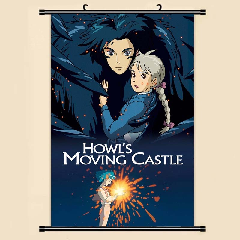 Studio Ghibli Inspired Poster print wall art howl/'s moving castle manga anime