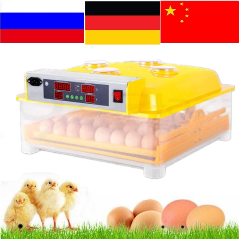 Fully Automatic Egg Incubator Mini Industrial Brooder Hatchery Machine For Hatching 48 Chicken Duck Quail Poultry Eggs